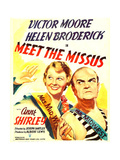 MEET THE MISSUS, from left: Helen Broderick, Victor Moore on window card, 1937 Posters