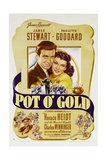 POT O' GOLD, from left: James Stewart, Paulette Goddard, bottom left: Charles Winninger, 1941 Prints