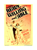 READY, WILLING AND ABLE, from left: Lee Dixon, Ruby Keeler on midget window card, 1937 Prints