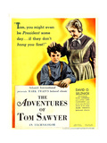 THE ADVENTURES OF TOM SAWYER, from left: Tommy Kelly, May Robson on window card, 1938. Prints