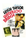 WATERLOO BRIDGE, right from top: Robert Taylor, Vivien Leigh on Australian poster, 1940 Prints