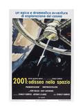 2001: A SPACE ODYSSEY, (aka 2001: ODISSEA NELLO SPAZIO), Italian poster,  1968 Prints