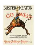 GO WEST! (aka GO WEST), Buster Keaton, 1925. Posters