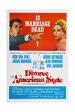 DIVORCE AMERICAN STYLE, US poster, from left: Dick Van Dyke, Debbie Reynolds, 1967 Posters