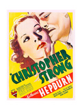 CHRISTOPHER STRONG, US poster art, from left: Katharine Hepburn, Colin Clive, 1933 Posters