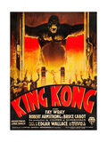 KING KONG, (French poster art), 1933 Affiches