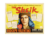 THE SHEIK, (re-issue 1938 half-sheet poster), Rudolph Valentino, 1921. Art