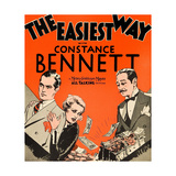 THE EASIEST WAY, l-r: Robert Montgomery, Constance Bennett, Adolphe Menjou on window card, 1931. Poster