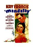 MANDALAY, Kay Francis, Ricardo Cortez, 1934 Posters