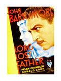 LONG LOST FATHER, from left: Helen Chandler, John Barrymore, 1934. Print