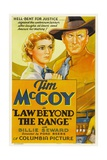 LAW BEYOND THE RANGE, from left: Billie Seward, Tim McCoy, 1935. Posters