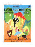 SCHOOL FOR COQUETTES, (aka L'ECOLE DES COCOTTES), French poster, 1935 Poster
