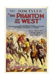 "PHANTOM OF THE WEST, Tom Tyler, 1931, 'Chapter 1: The Ghost Riders"" Print"