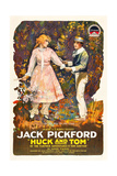 HUCK AND TOM, from left, Clara Horton, Jack Pickford, 1918 Prints