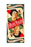 THE PRIVATE LIFE OF DON JUAN, Douglas Fairbanks on Austrian poster art, 1934. Art