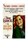 THE DEVIL'S HOLIDAY, Nancy Carroll, 1930. Posters