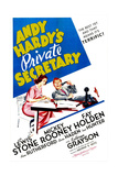 ANDY HARDY'S PRIVATE SECRETARY, US poster, Kathryn Grayson, Mickey Rooney, 1941 Prints