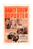 NANCY DREW...REPORTER, top center: Bonita Granville on US poster art, 1939. Prints