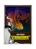 CHINATOWN, German poster, Jack Nicholson (center), 1974 Print