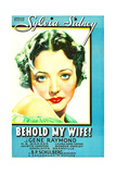 BEHOLD MY WIFE, Sylvia Sidney on US poster art, 1934 Art