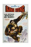 KING KONG ESCAPES, (aka EL REGRESO DE KING-KONG), Argentinan poster, King Kong, 1967 Obrazy