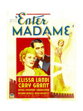 ENTER MADAME, from left: Elissa Landi, Cary Grant on window card, 1935 Print