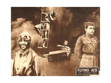 THE FLYING ACE, left: Kathryn Boyd, right: Lawrence Griner on lobbycard, 1926. Prints