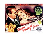 HAVING WONDERFUL TIME, from left: Douglas Fairbanks Jr., Ginger Rogers, 1938. Poster