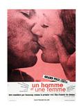A MAN AND A WOMAN (aka UN HOMME ET UNE FEMME) Plakat