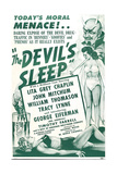 THE DEVIL'S SLEEP, US poster, 1951 Prints