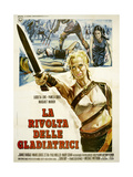 THE ARENA, (aka LA RIVOLTA DELLE GLADIATRICI), Italian poster, center: Lucretia Love, 1974 Prints