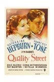QUALITY STREET, from left: Katharine Hepburn, Franchot Tone, 1937 Posters