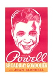 BROADWAY GONDOLIER, US poster art, Dick Powell, 1935 Posters