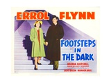 FOOTSTEPS IN THE DARK, Brenda Marshall, Errol Flynn, 1941 Prints