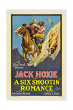 A SIX SHOOTIN' ROMANCE, from left: Jack Hoxie, Olive Hasbrouck, 1926. Prints