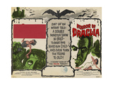 THE CURSE OF FRANKENSTEIN,  1957, HORROR OF DRACULA, 1958, US lobbycard, Christopher Lee Reprodukcje