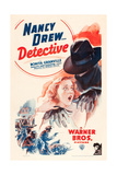 NANCY DREW: DETECTIVE, Bonita Granville on poster art, 1938. Print