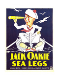 SEA LEGS, Jack Oakie on window card, 1930 Poster