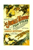 JUNGLE MYSTERY, top center: Tom Tyler in 'Chapter 9: The Jungle Terror', 1932. Prints