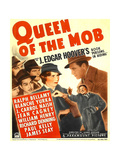 QUEEN OF THE MOB, center from left: Blanche Yurka, Ralph Bellamy on window card, 1940. Print