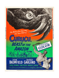 CURUCU, BEAST OF THE AMAZON, l-r: John Bromfield, Beverly Garland on US poster art, 1956. Prints