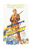 DAVY CROCKETT, KING OF THE WILD FRONTIER, Fess Parker, 1955 Print