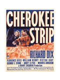 CHEROKEE STRIP, right: Richard Dix on window card, 1940 Posters