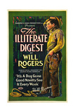 THE ILLITERATE DIGEST, Will Rogers, 1924 Posters