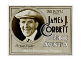 THE PRINCE OF AVENUE A, James J. Corbett on 'Title card' to lobbycard set, 1920. Posters