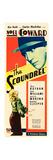 THE SCOUNDREL, top: Noel Coward, bottom: Julie Haydon on insert poster art, 1935 Poster