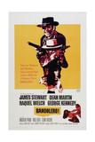 BANDOLERO!, US poster, top: James Stewart, Dean Martin, Raquel Welch, 1968 Poster