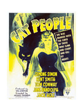 CAT PEOPLE, Simone Simon on window card, 1942. Posters