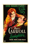 LAUGHTER, US poster art, from left: Nancy Carroll, Fredric March, 1930 Posters