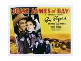JESSE JAMES AT BAY, top from left: Roy Rogers, Gale Storm, center left: George 'Gabby' Hayes, 1941 Plakat